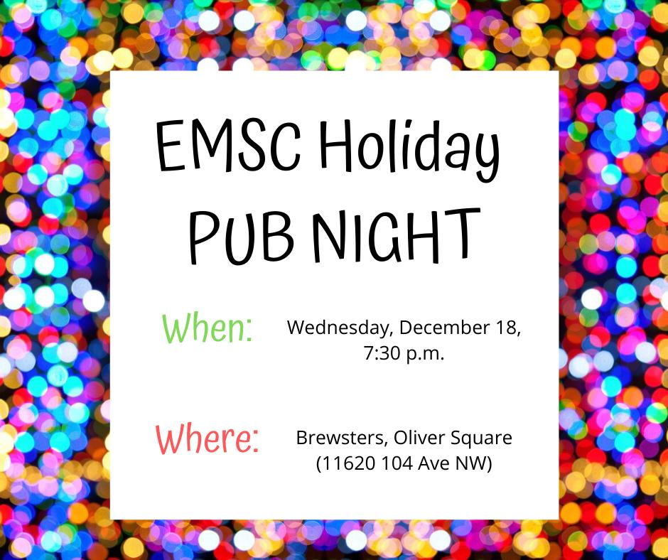 EMSC Christmas PUB NIGHT